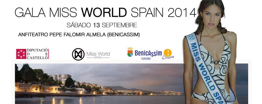 Gala Miss World Spain 2014. Benicàssim