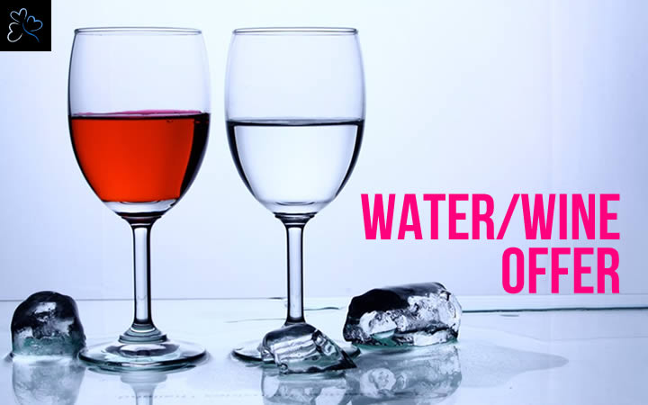 Water and Wine Included Offer