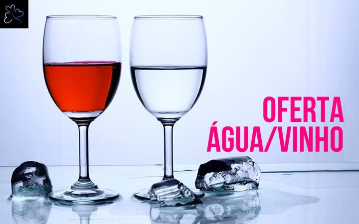 Oferta Água e Vinho Incluido